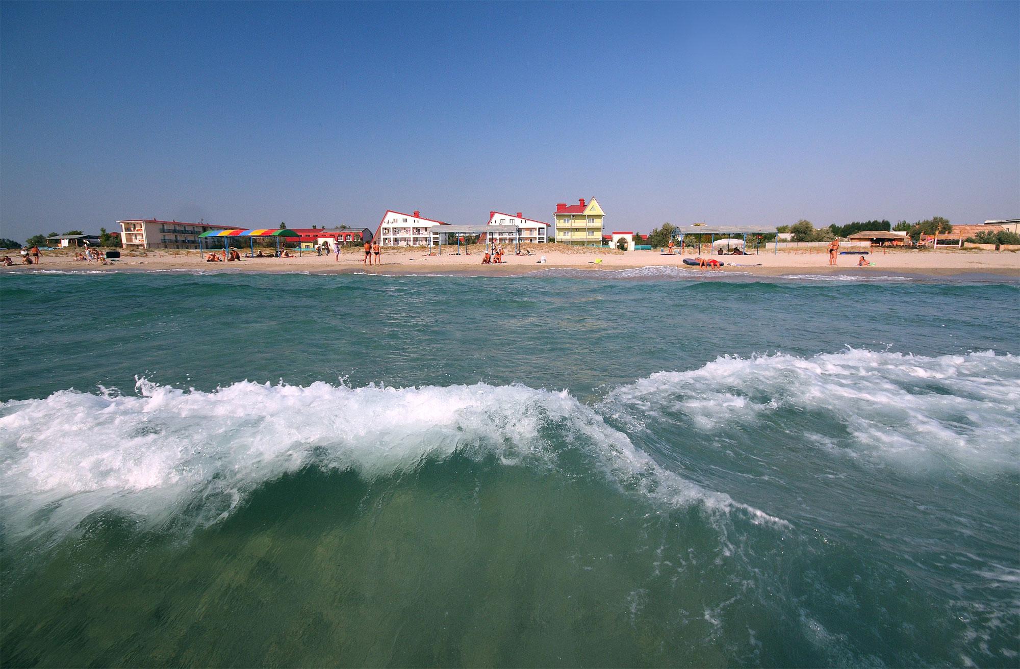 Пляж в поселке поповка фото