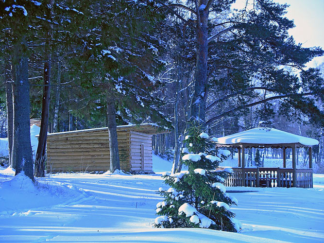 Селигер зимой база отдыха